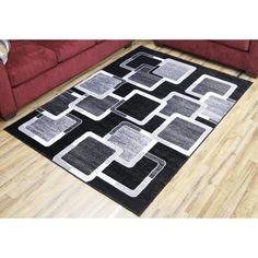 LTD Empire Passion Black/Grey Contemporary Rug (7'10 x 10'2) (