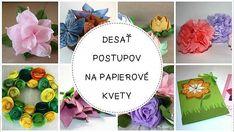 Desať postupov na papierové kvety   Artmama.sk