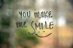you make me smile ;)
