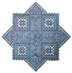 Blue hardanger piece. Very pretty!