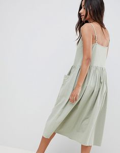 ASOS | ASOS DESIGN casual smock midi cami dress