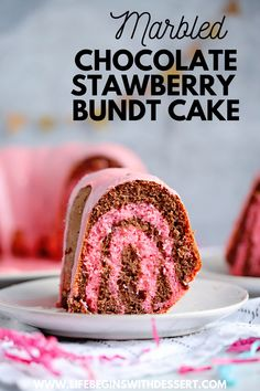 This delightful chocolate strawberry marbled bundt cake is so easy and delicious! Enjoy this strawberry bundt cake as your Valentine's dessert or for your next special occasion. Decadent Chocolate Cake, Chocolate Bundt Cake, Delicious Chocolate, Chocolate Recipes, Chocolate Art, Holiday Desserts, Fun Desserts, Delicious Desserts, Dessert Recipes