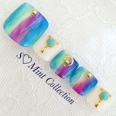 These are pretty! | Toe nail art design Toe Designs, New Nail Designs, Creative Nail Designs, Creative Nails, Feet Nail Design, Nail Pictures, Diva Nails, Manicure Y Pedicure, Feet Nails
