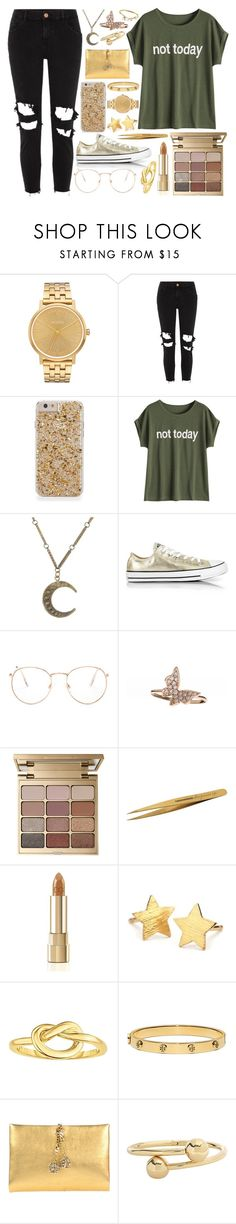 """Tore the curtains down, windows open now make a sound ~"" by xblackcatmidnightx ❤ liked on Polyvore featuring Nixon, River Island, Alkemie, Converse, Glance Eyewear, Stila, Tweezerman, Dolce&Gabbana, Pernille Corydon and Tory Burch"
