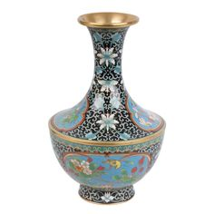China 20. Jh. Emaille -A Chinese Cloisonne Enamel Baluster Vase - Cinese Chinois