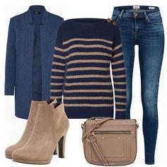 Kein automatischer Alternativtext verfügbar. Sydney, Dark Blue Skinny Jeans, Business Outfits, Beige, My Style, Polyvore, How To Wear, Link, Fashion