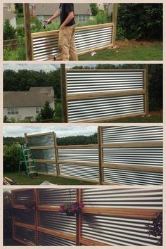 horizontal wood fence - Google Search