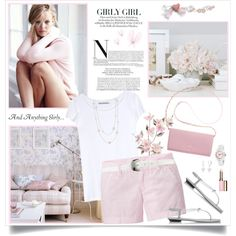 Girly Girl by brendariley-1 on Polyvore featuring Acne Studios, Uniqlo, René Caovilla, DKNY, Christian Van Sant, Elsa Peretti, Bling Jewelry, Ralph Lauren, Clarins and Victoria's Secret