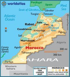 Map of #Morocco. I have pinned a lot from there, loved this info.