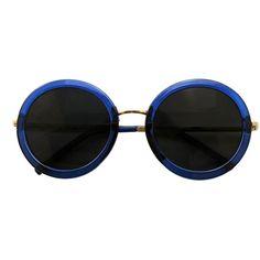 Iyu Design Round Transparent Blue Framed Sunglasses, Black Lenses -... ($33) ❤ liked on Polyvore featuring accessories, eyewear, sunglasses, blue, blue sunglasses, see through glasses, black lens sunglasses, see through sunglasses and round sunnies