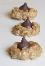 Oh the goodies of the season peanut chocolate kiss rice krispies!