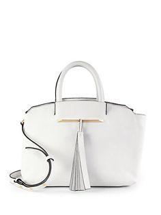 B Brian Atwood - Curve Top Leather Shoulder Tote