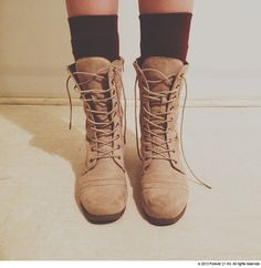 combat boots + socks I cannot wait until fall.