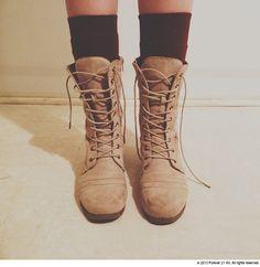 combat boots + socks