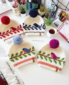 Baby Knitting Patterns, Knitting Stitches, Knitted Hats, Crochet Hats, Crochet Birds, My Precious, Baby Dress, Knitwear, Winter Hats