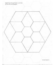English Paper Piecing Pattern, 1 1/2 inch 6 Point Diamonds