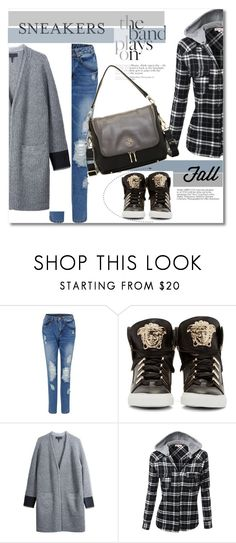 Look the day by vkmd on Polyvore featuring rag & bone/JEAN, Versace, Segolene Paris and sneakerstyle