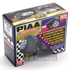 PIAA HO-8E Dual Tone High Pitch Euro Sports Car Horn 115dB 12V (500/600Hz)