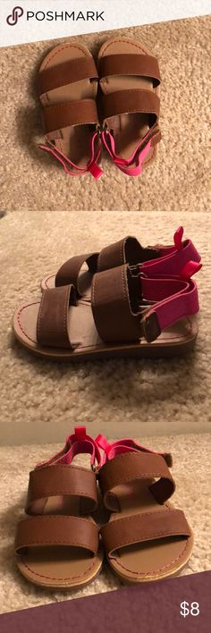 Toddler Sandals Worn many times. In good condition. Carters Shoes Sandals & Flip Flops