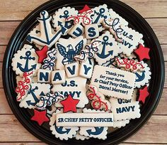 SweetPea's Treats specializes in custom decorated sugar cookies for all occasions. Military Send Off Party Ideas, Military Retirement Parties, Military Party, Retirement Celebration, Retirement Party Decorations, Retirement Cakes, Retirement Countdown, Retirement Ideas, Royal Icing Cookies
