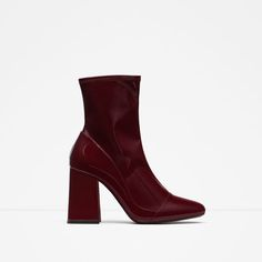 Image 1 of HIGH HEEL SOCK STYLE ANKLE BOOTS from Zara