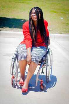 Wheelchair Fashion: OOTD - Hounds-tooth Print Pencil Skirt