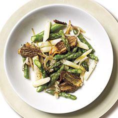 Morel Mushroom and Asparagus Sauté Recipe   MyRecipes.com