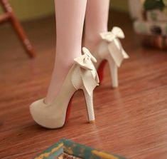 Special Sexy Bow Stiletto Heels (Apricot,black,khaki) - stylishplus.com