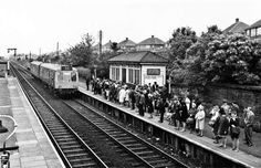Kirkby station 1970 Liverpool Town, Historical Pictures, Old Photos, Railroad Tracks, Past, Street View, Train, Memories, Blanket