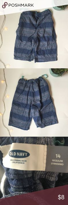 Old Navy Striped Boys Shorts Striped blue boys shorts from Old Navy. Great condition, youth size 14. Measurements on request. Old Navy Bottoms Shorts