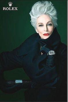 The Watchmen - Carmen Dell'Orefice Vintage Rolex Ad. #rolex #rolexwatch #rolexad #thewatchmen #watchmenwatches