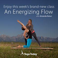 """Amanda Botur's """"Energizing Flow"""" #yogatoday #yoga #amandabotur #jacksonhole"""