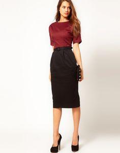 Love, love long pencil skirts