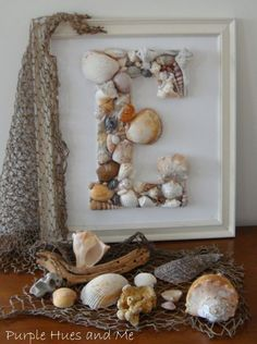 diy seashell monogram, diy home crafts