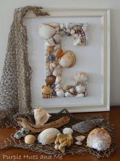 diy seashell monogram, diy home crafts