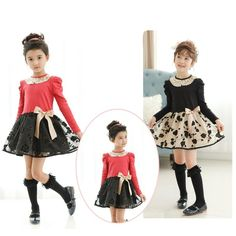 2015 Spring Babies Girls Princess Tutu Lace Dresses With Bow 3D Gold Flower Embroid Kid Girl Lace Neck Patchwork Ruffled Casual Party Dress Online with $12.01/Piece on Smartmart's Store | DHgate.com