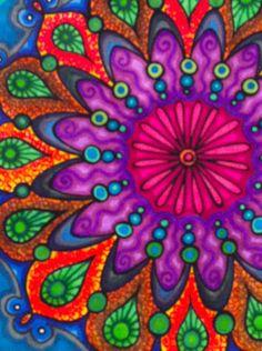 Mandala coloring with sharpies