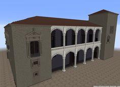 ¡MINECRAFTEATE!: Réplica Minecraft del Palacio de Saldañuela, Sarracín, Burgos, España.