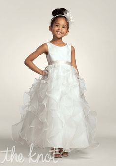 David's Bridal Flower girl dress idea