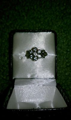 Flower petal crystal silver ring by TimelessandForever on Etsy, $45.00