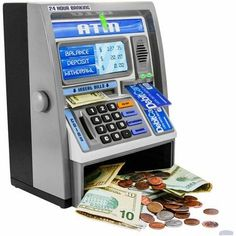 Kids Pink Educational Learning Developmental Counting ATM Machine Real Money Savings Bank w ATM Card Money Safe Box, Money Box, Mini Things, Cool Things To Buy, Cool Stuff To Buy, Atm Bank, Savings Bank, Interactive Toys, Kids Boxing