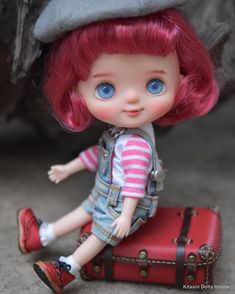 Kawaii Doll, Say Hi, Blythe Dolls, Art Dolls, Disney Princess, Toys, Disney Characters, Cute, Instagram