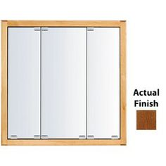 Kraftmaid Traditional 36-In X 30-In Square Surface/Recessed Mirrored W