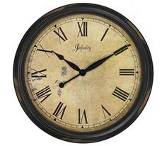Distressed Case Round Resin Decorative Wall Clock - http://www.art-and-home.net/servlet/the-1660/24%22-Distressed-Case-Round/Detail#