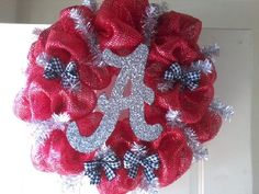 University of Alabama Mesh Wreath