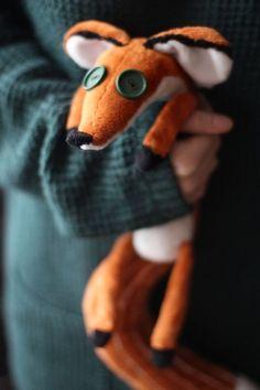 Как сшить мягкую игрушку своими руками Лис (из мф. Маленький Принц)?