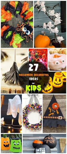 25 cheap halloween decorations pumpkins yarns and home - Decorating For Halloween On A Budget
