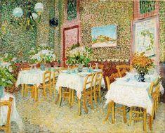 Interior of a Restaurant, Vincent van Gogh, 1887.
