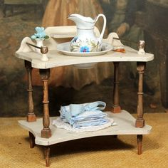 French Wash Stand for Large Fashions or Small Bebes