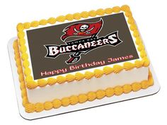 Tampa Bay Buccaneers Edible Birthday Cake Topper OR Cupcake Topper, Decor